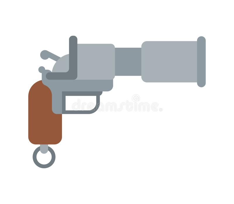 枪动画片样式 玩具武器 也corel凹道例证向量 向量例证