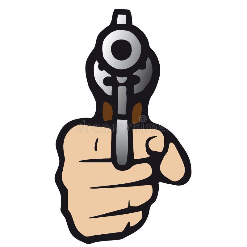 枪向量 向量例证