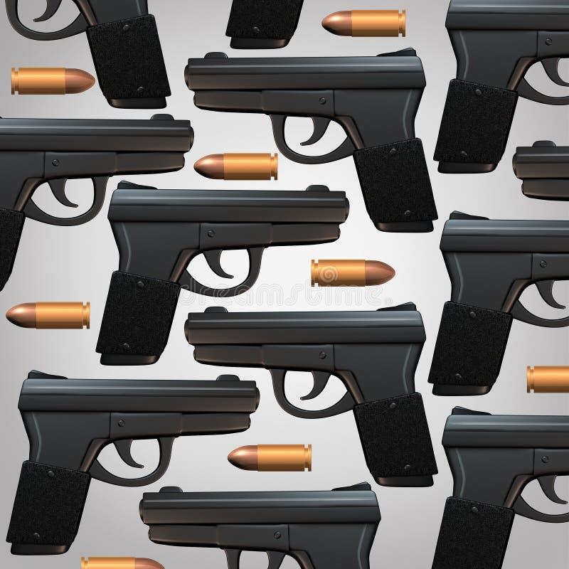 枪和子弹背景 向量例证