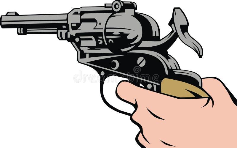枪在您的手上 皇族释放例证