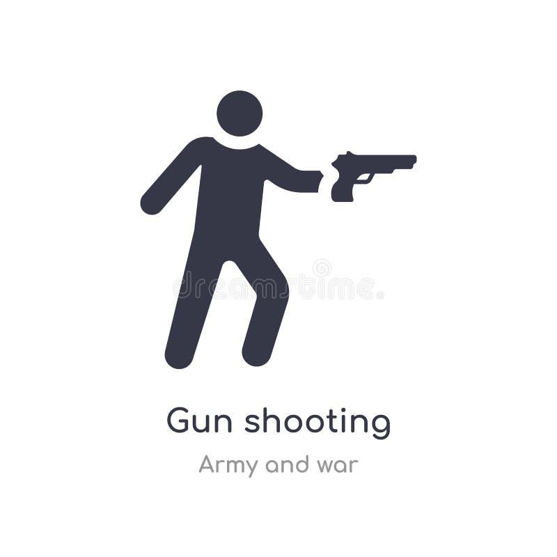 枪射击象 从军队和战争汇集的被隔绝的枪射击象传染媒介例证 r 库存例证