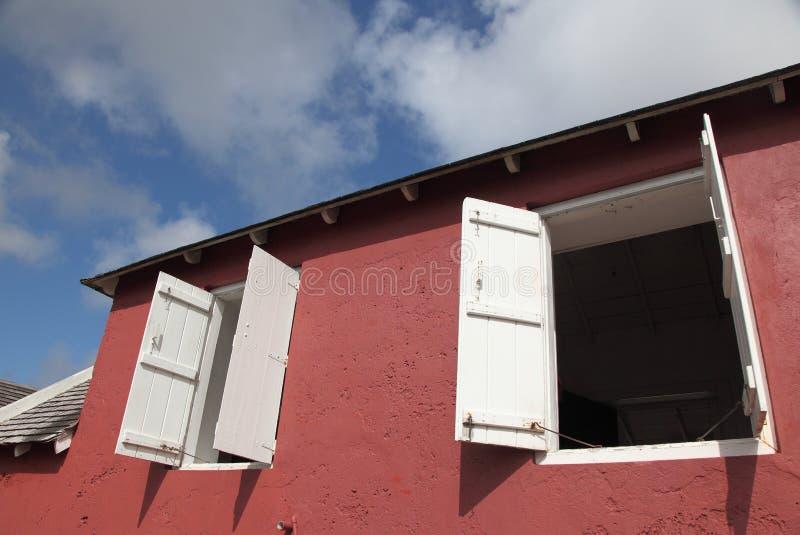 枪小山信号驻地,巴巴多斯 免版税库存照片