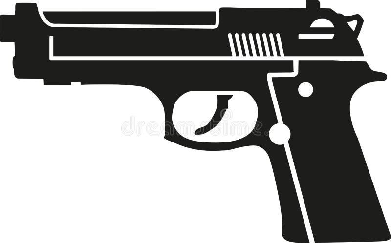 枪手枪传染媒介 库存例证