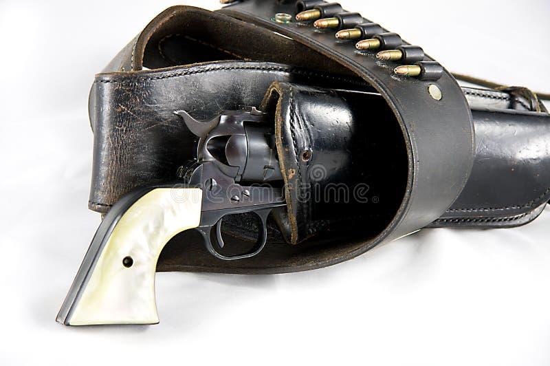 枪手枪皮套左轮手枪 免版税库存图片