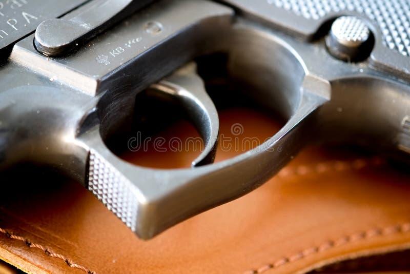 枪手枪触发器 库存图片