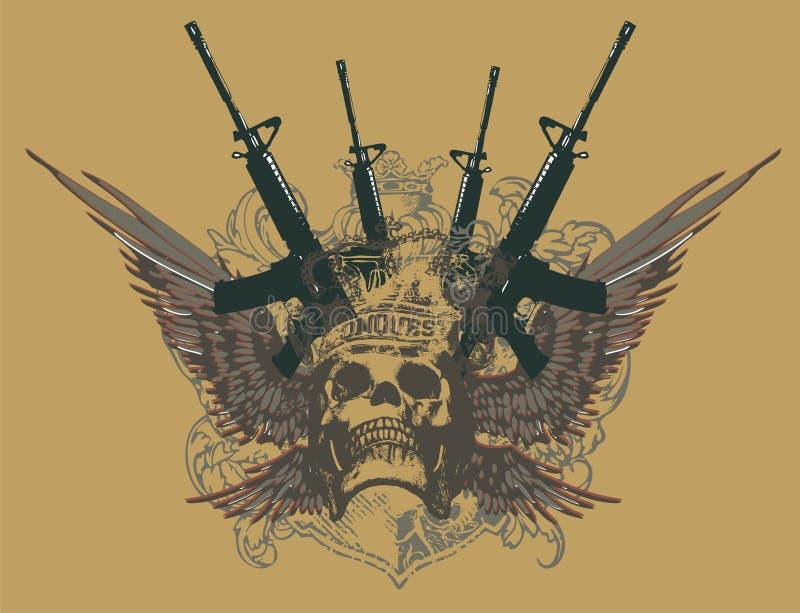 枪线路 皇族释放例证