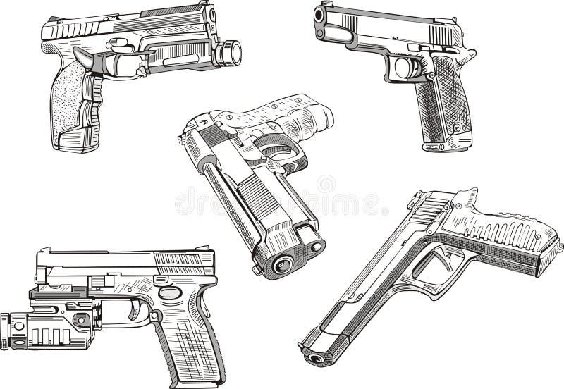 枪草图 免版税库存照片