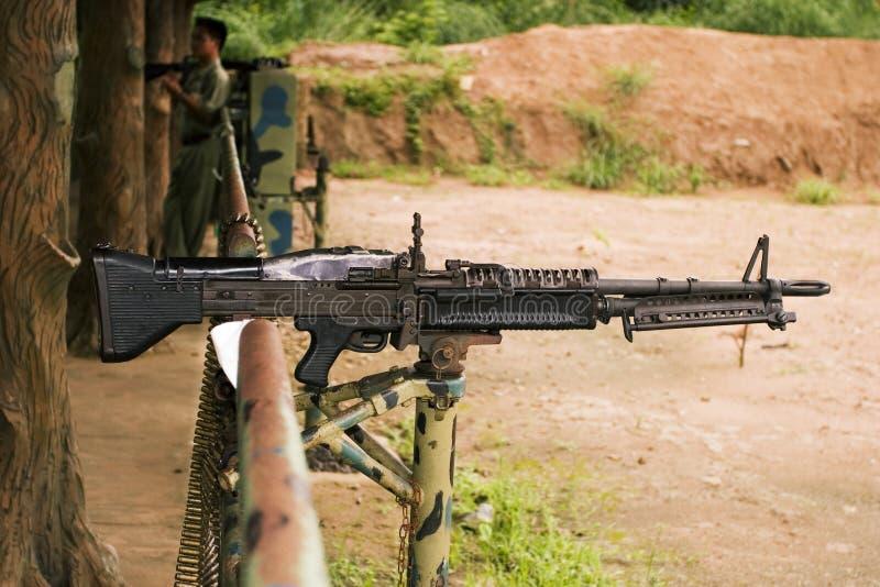 枪被装载的设备 库存照片