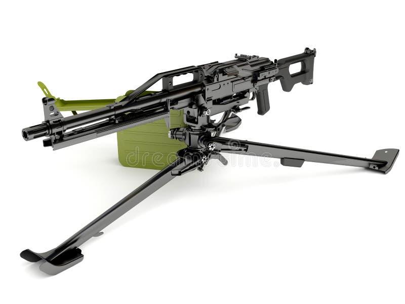 枪设备挂接peheneg三脚架 库存例证