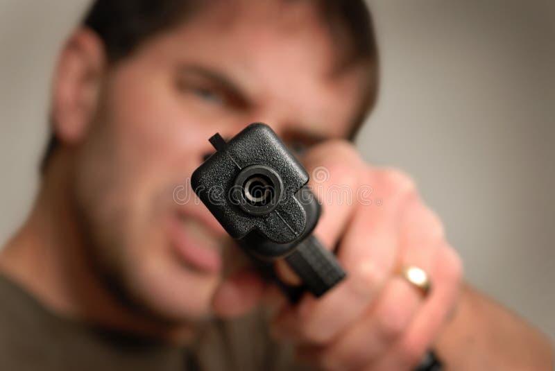 枪谈话 图库摄影