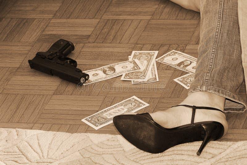 枪谋杀 免版税库存图片