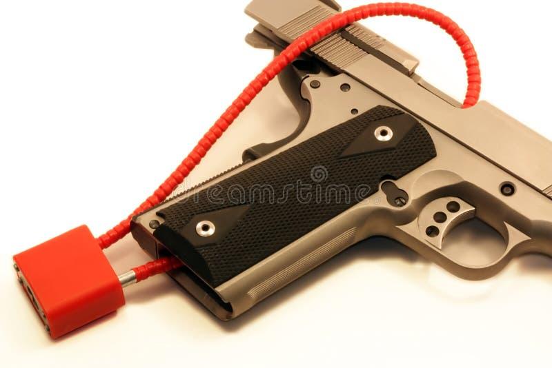 枪锁定 免版税库存照片