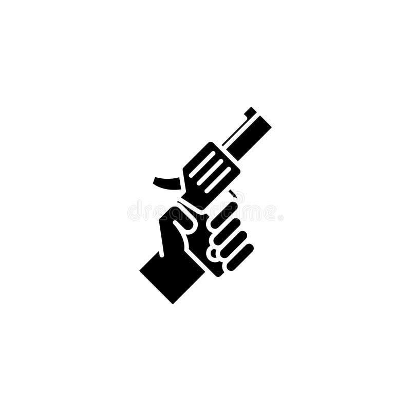 枪黑象概念 开枪平的传染媒介标志,标志,例证 皇族释放例证