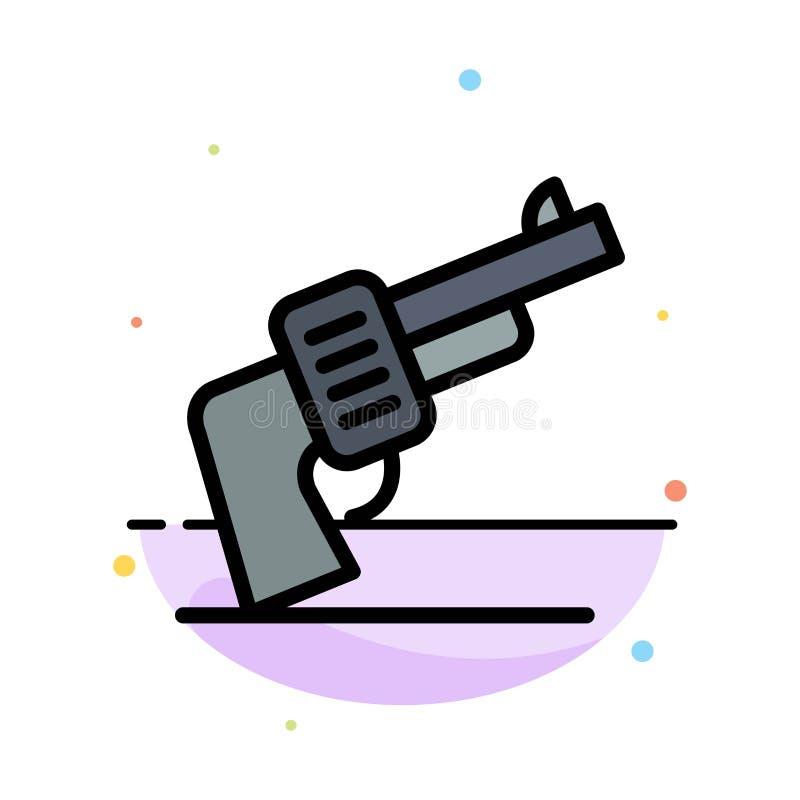枪,手,武器,美国抽象平的颜色象模板 向量例证