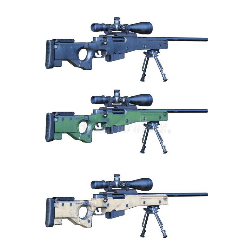 枪3D CG翻译  皇族释放例证
