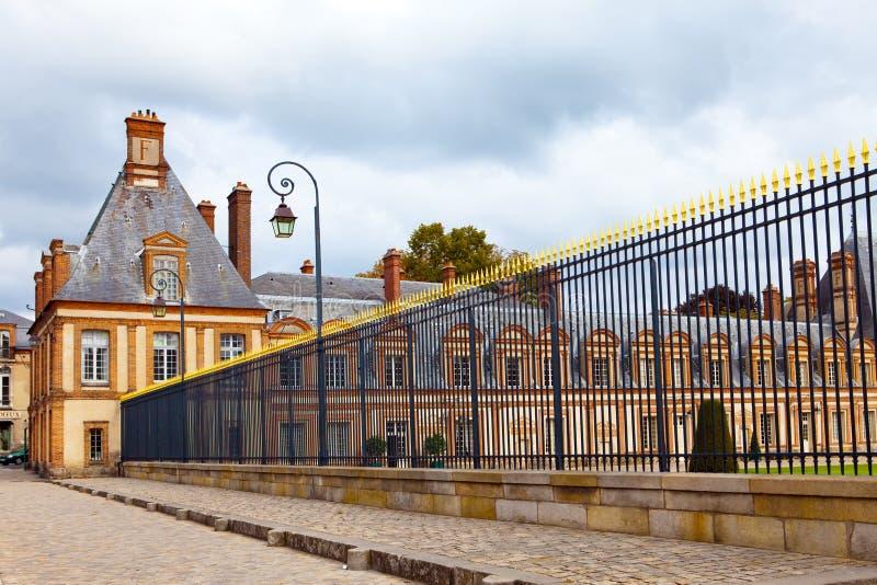 枫丹白露法国宫殿公园 免版税库存照片
