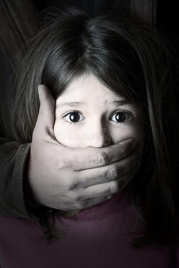 绑架儿童 库存照片