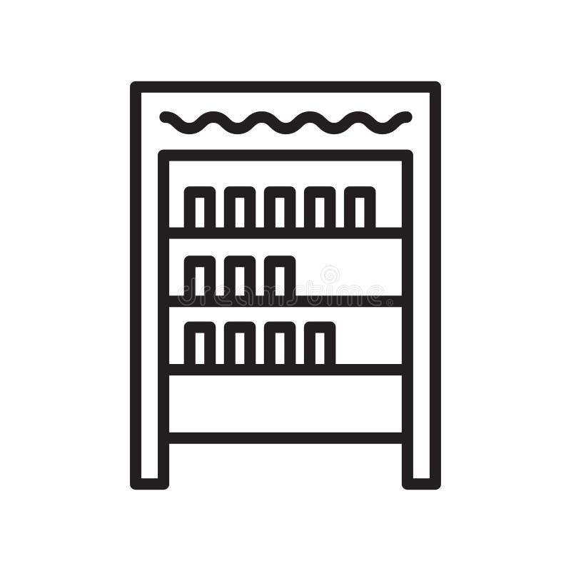 架子象在白色背景和标志隔绝的传染媒介标志 向量例证