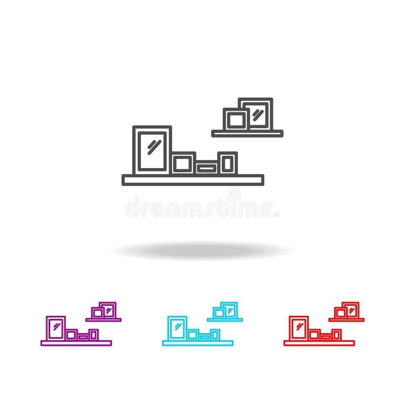 架子象 家具的元素在多色的象的 优质质量图形设计象 网站的简单的象,网des 库存例证