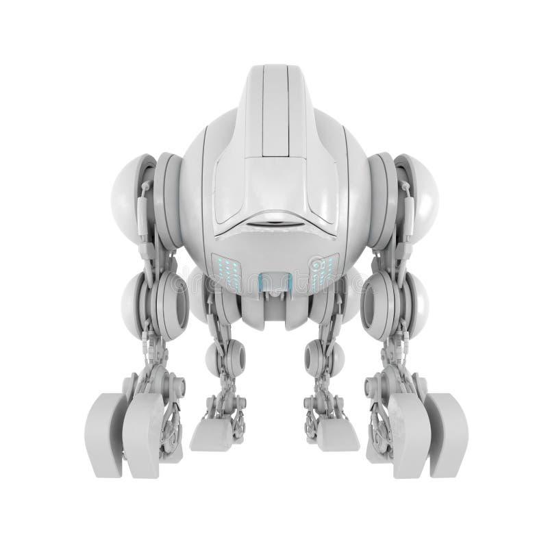 架线的生物未来派机器人 皇族释放例证