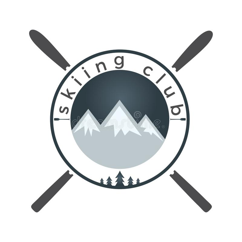 架置滑雪商标设计 向量例证