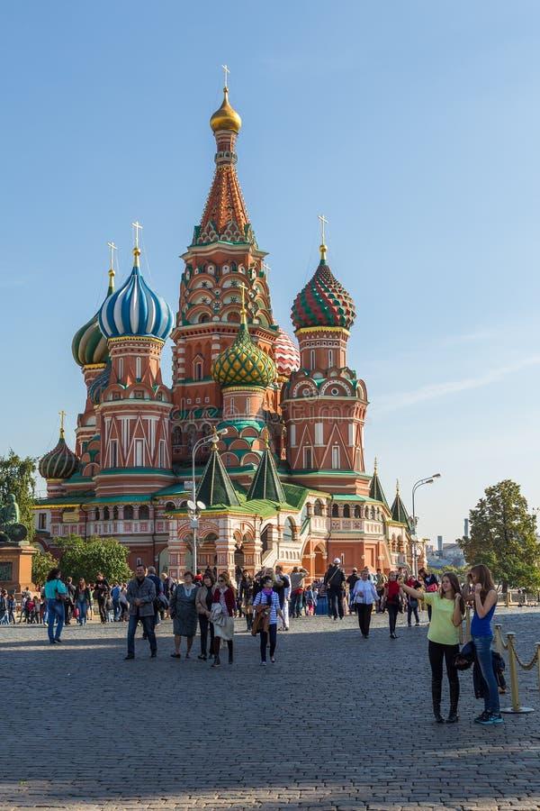 柏拉仁诺教堂观察从红场 莫斯科俄国 免版税图库摄影