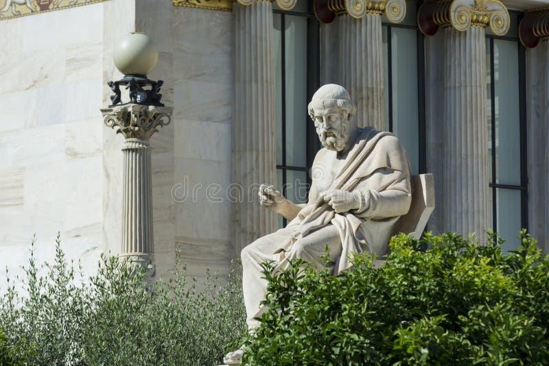 柏拉图一个经典雕象  免版税库存图片