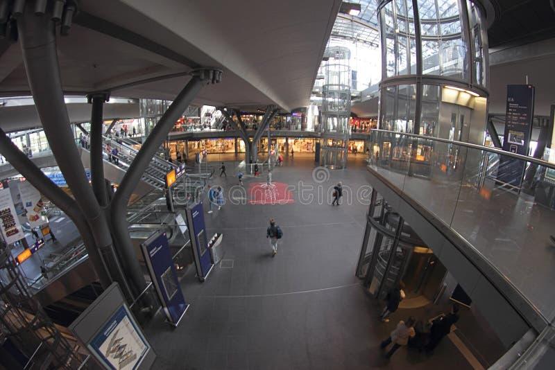 柏林中央车站(柏林中央驻地) 库存图片