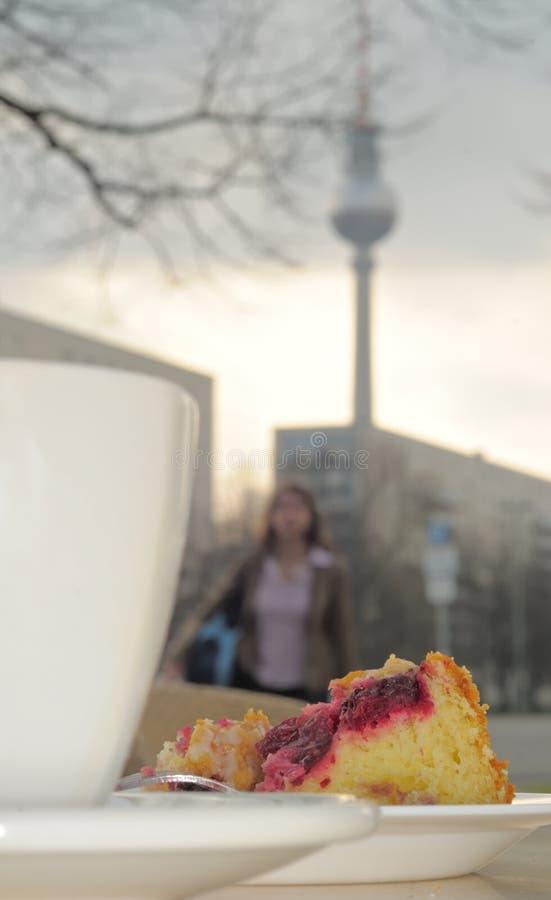 柏林中断coffe 库存照片