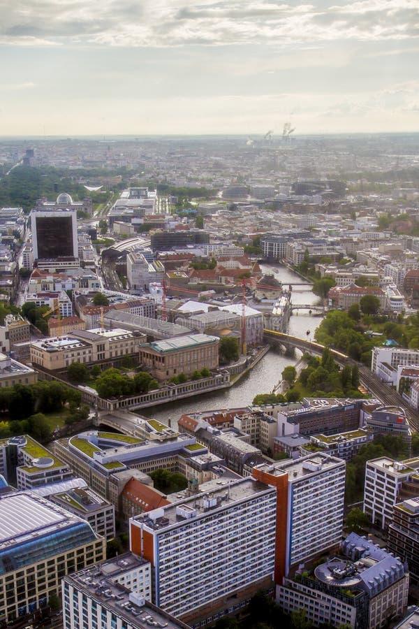 柏林从电视塔的市视图 免版税库存图片