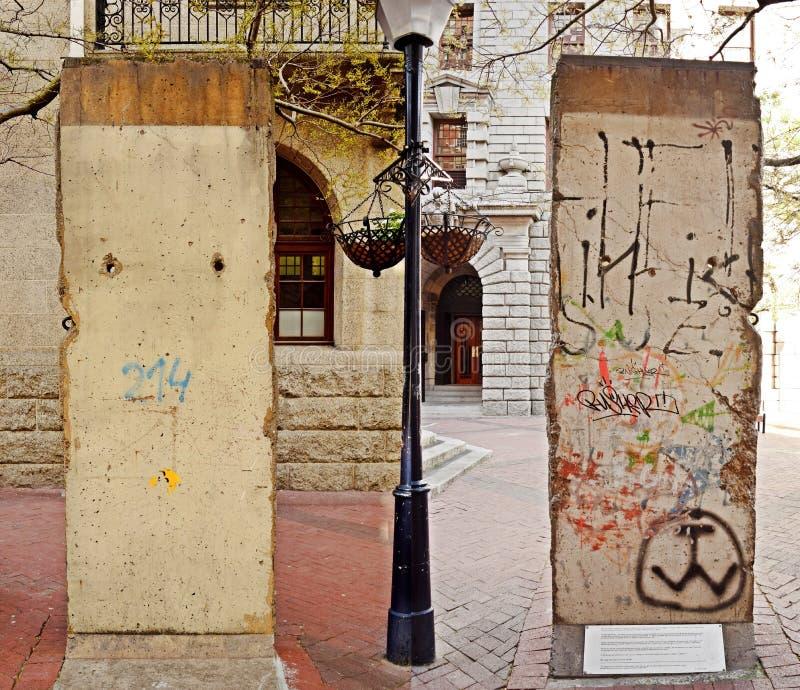 柏林围墙的双方 库存图片