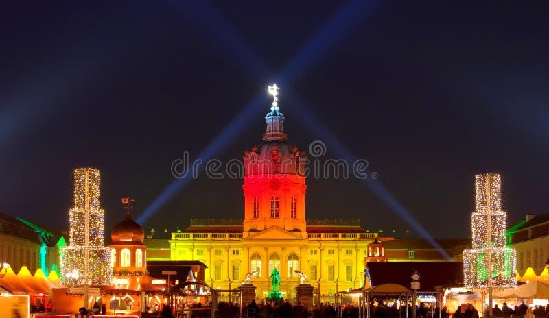 柏林圣诞节市场夏洛登堡 库存照片