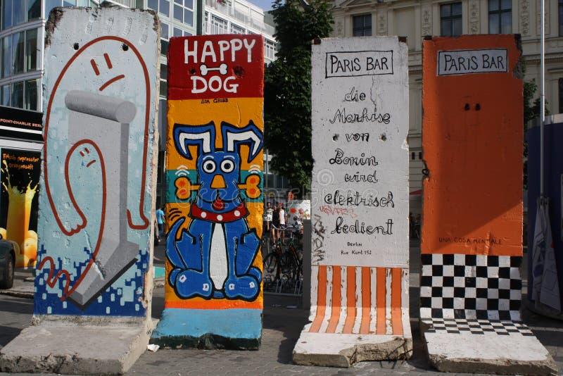 柏林墙小的片断  免版税图库摄影