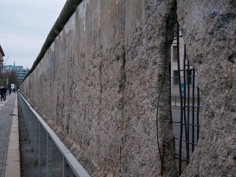 柏林墙的遗骸在柏林,德国 库存照片