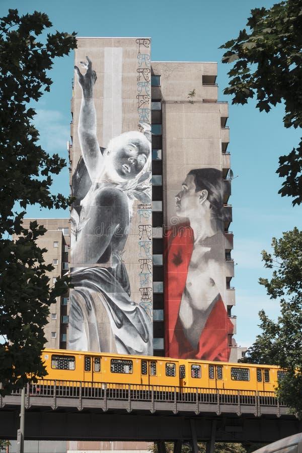 柏林大厦绘画 免版税图库摄影