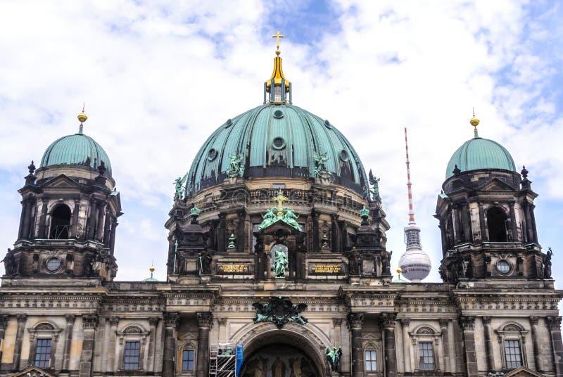 柏林大教堂 德语柏林大教堂 免版税库存图片