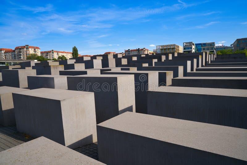 柏林对被谋杀的犹太人的浩劫纪念品 免版税库存图片