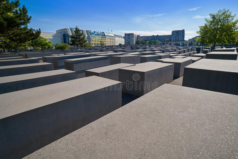 柏林对被谋杀的犹太人的浩劫纪念品 库存照片