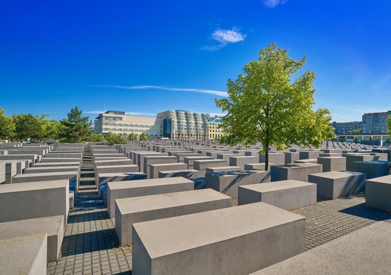 柏林对被谋杀的犹太人的浩劫纪念品 库存图片