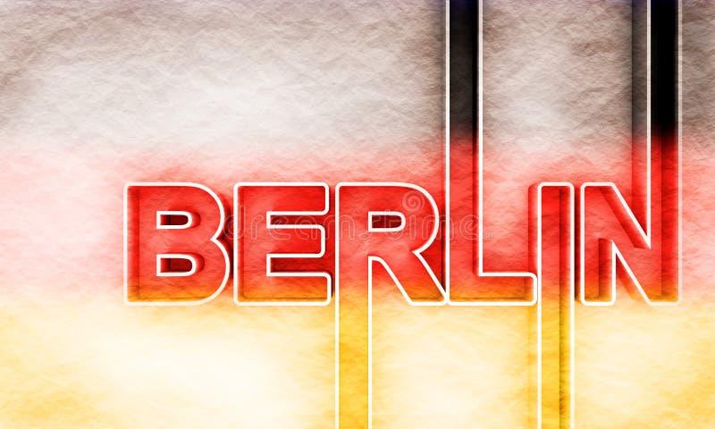 柏林市名字 皇族释放例证