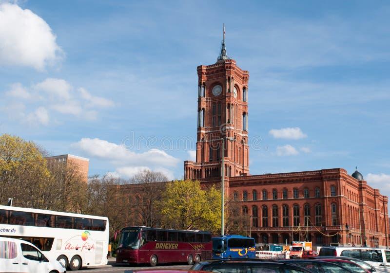 柏林市政厅 免版税图库摄影