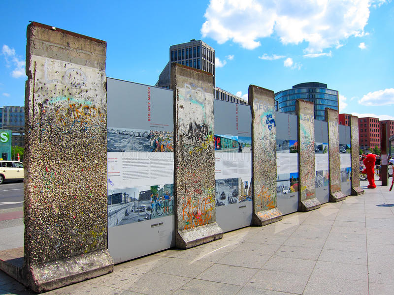 柏林德国墙壁 免版税库存照片