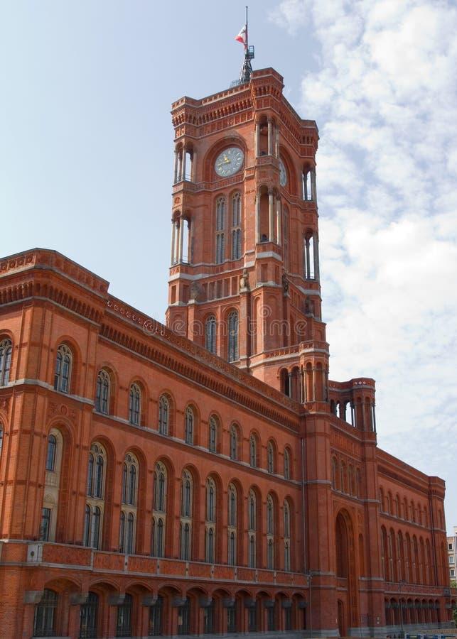 柏林德国大厅rathaus红色rotes城镇 免版税图库摄影