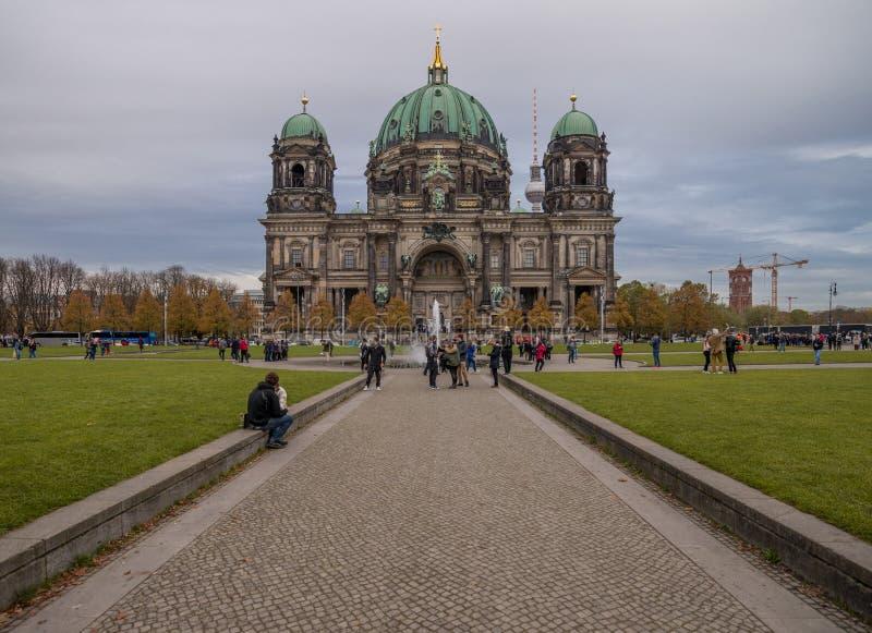 柏林德国10 21 17 :柏林大教堂德语:柏林大教堂 库存照片