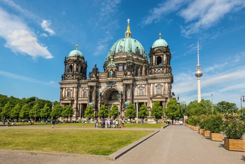 柏林柏林大教堂dom德国 免版税库存照片