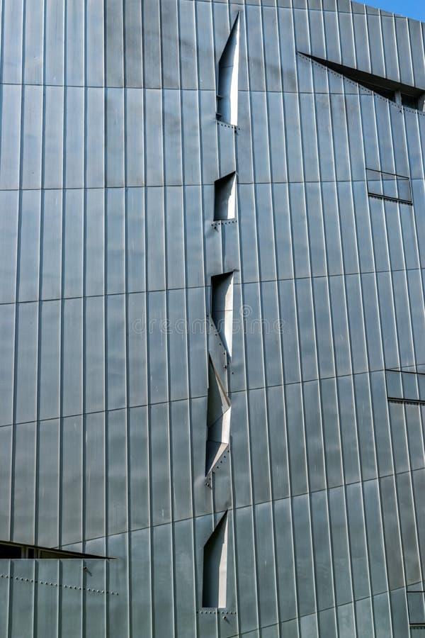 柏林犹太博物馆,建筑地标 免版税库存图片