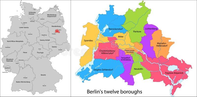 柏林自治市镇  向量例证