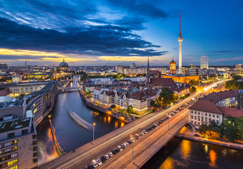 柏林都市风景 库存照片