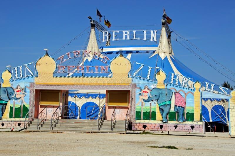 柏林马戏场帐篷,安大路西亚,西班牙。 免版税库存照片