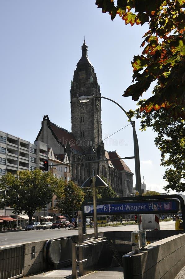 柏林,德国威严27 :夏洛登堡Wilmersdorf Rathaus看法在柏林 图库摄影